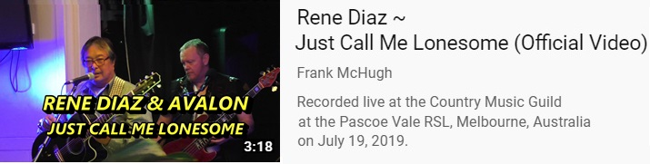Rene Diaz - Just Call Me Lonesome